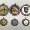 STOCK XRM 2 INCH IM AND JDS 1 INCH IM MEDAL CAN BE GOLD, SILVER, OR BRONZE LOGO CAN BE GOLD, SILVER, OR WHITE