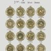 "Galaxy Medals Gold - Silver - Bronze 2 3/8"" in Diameter"